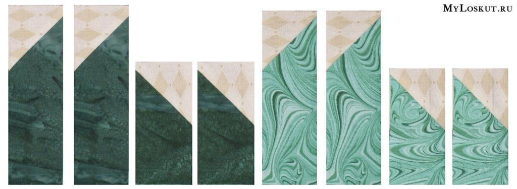 """Как разрезать куски ткани, чтобы получился блок """"Звезда"""""""