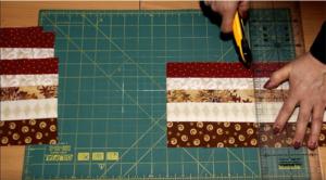 Разрезать ткань для одеяла