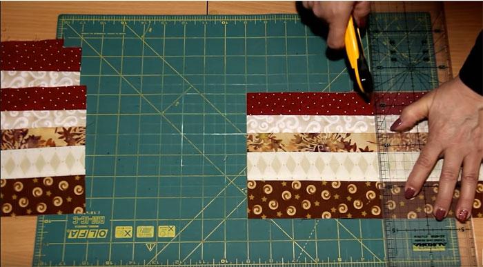 Разрезать ткань для лоскутного одеяла