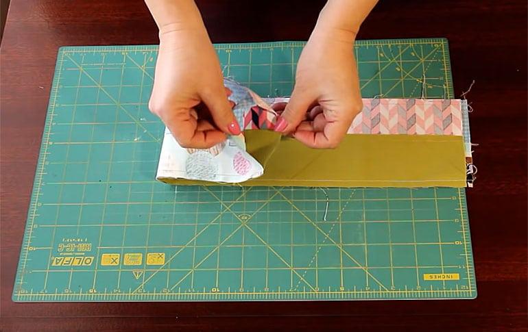 Сшитые полосы ткани