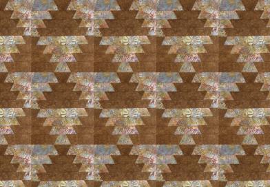 Лоскутное шитье, пэчворк — блок «Отражение»