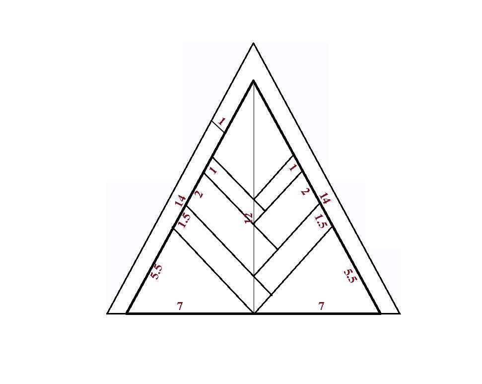 Бумажный шаблон для снежинки